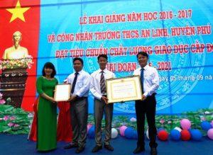 Truong THCS An Linh khai giang 2016